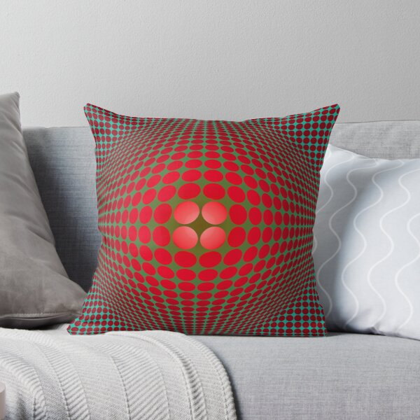 Victor Vasarely Homage 57 Throw Pillow