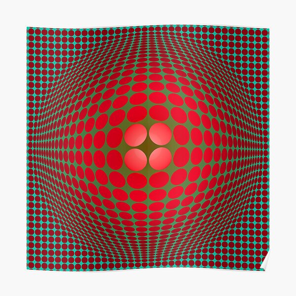 Victor Vasarely Homage 57 Poster