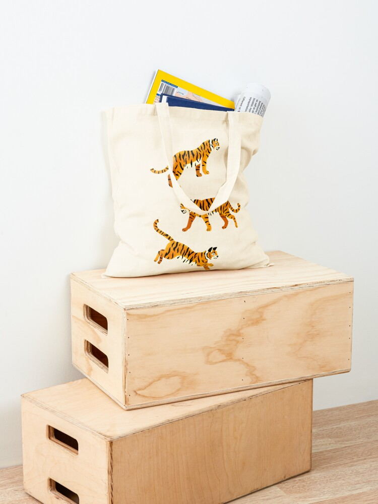 Alternate view of Bengal Tigers - Navy  Tote Bag