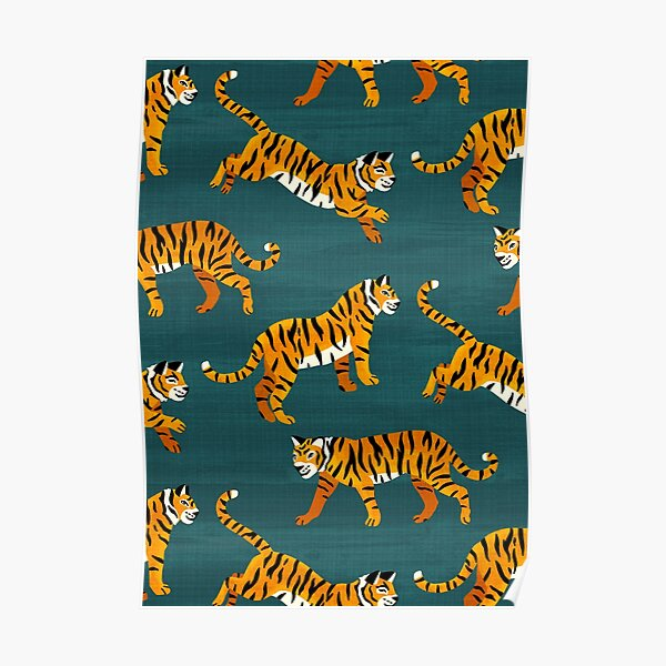 Tigres du Bengale - Marine Poster