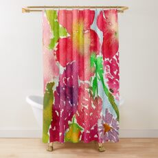 Flowers at Farmers Market Shower Curtain