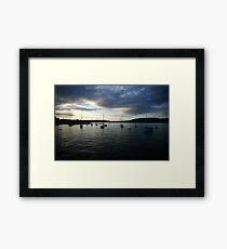 Zurich Sea, Switzerland Framed Print
