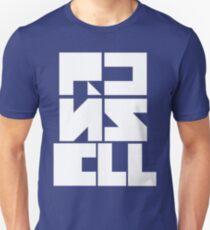 "Custom Graphic Name T-Shirt ""White on Color"" Unisex T-Shirt"