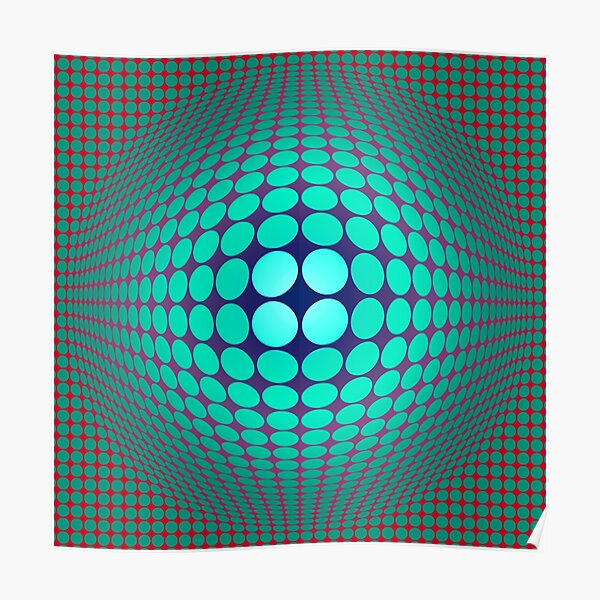 Copy of  Victor Vasarely Homage 58 Poster