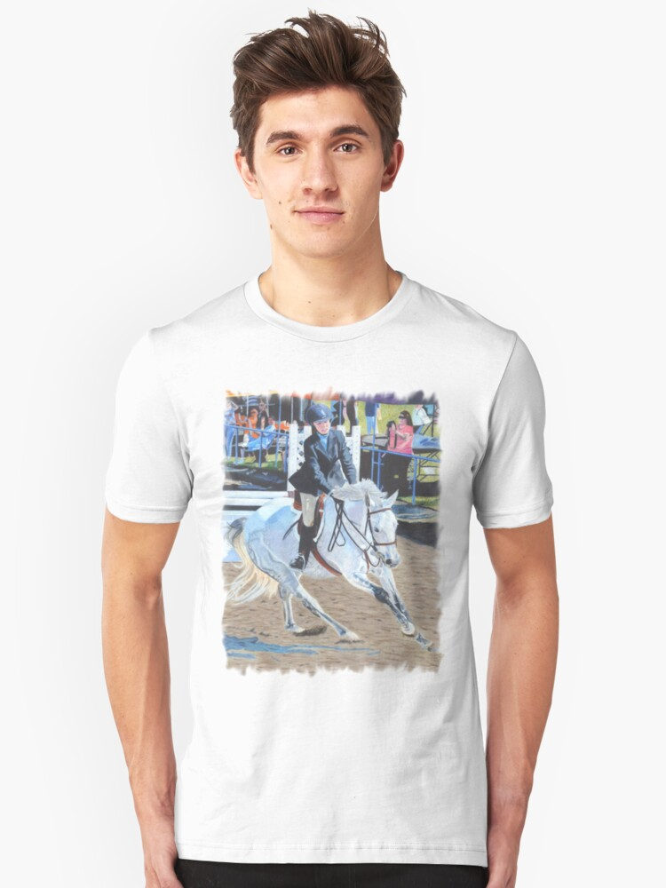 Determination - Horseshow T-Shirt or Hoodie Unisex T-Shirt Front