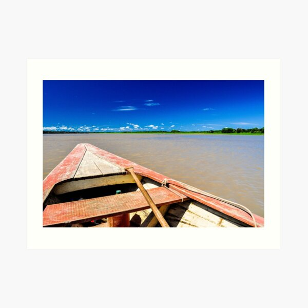 Amazon River Row Boat Art Print