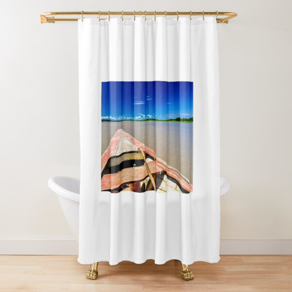 Amazon River Row Boat Shower Curtain