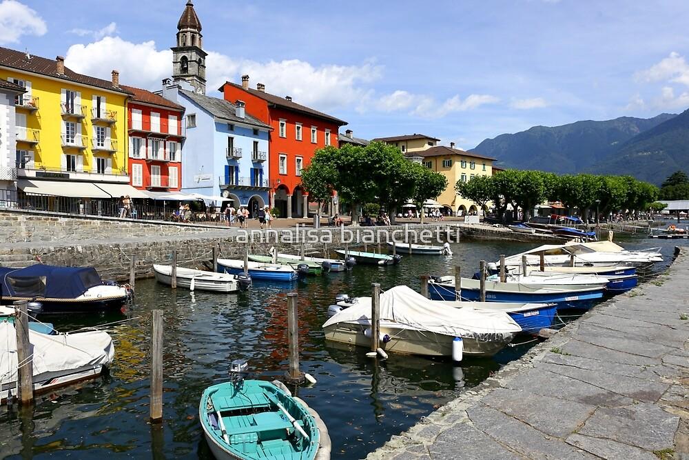 Ascona harbor by annalisa bianchetti