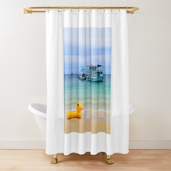 Beached Duck Shower Curtain
