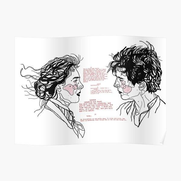 jo et laurie // script de petites femmes Poster
