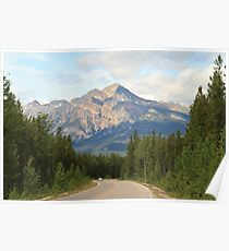 Mountain Road at Jasper National Park Poster