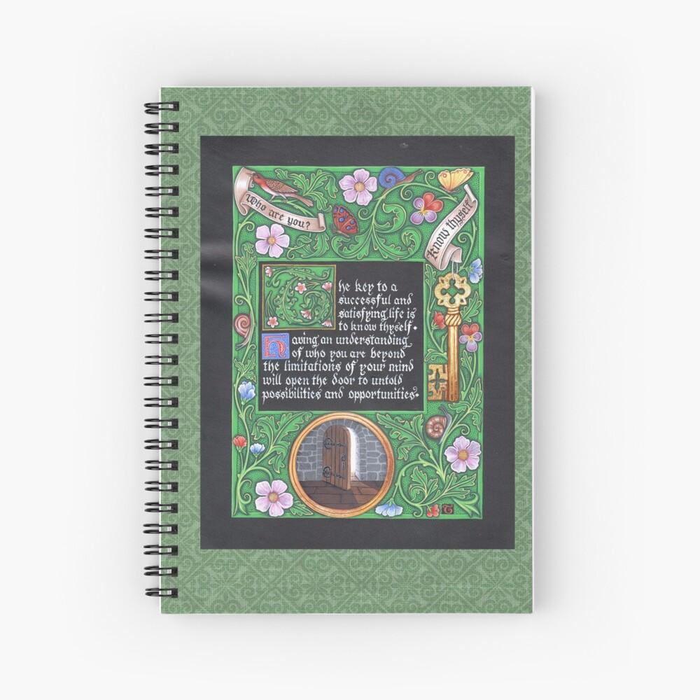 Medieval Illumination - Know Thyself Spiral Notebook