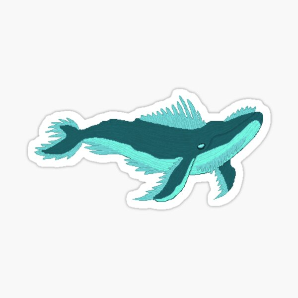 'Whale' - flying Whale Sticker