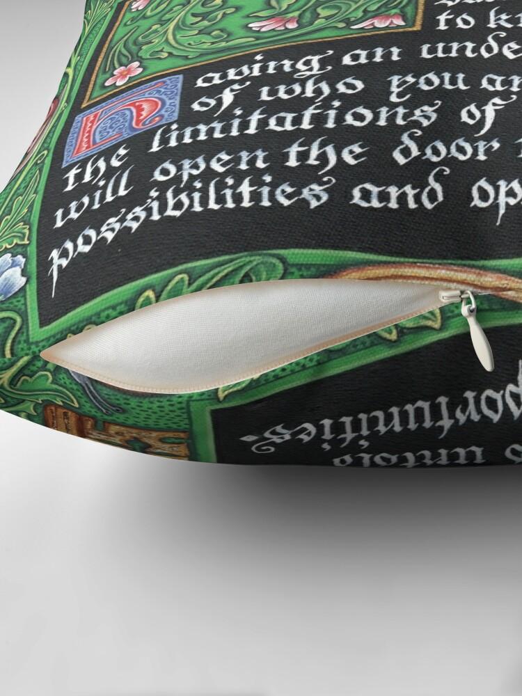 Alternate view of Medieval Illumination - Know Thyself Throw Pillow