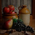 Autumn Fruits and Jars by margo