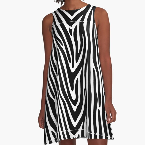 Zebra fashion A-Linien Kleid