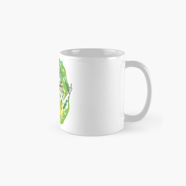 Rick and morty middle finger Classic Mug