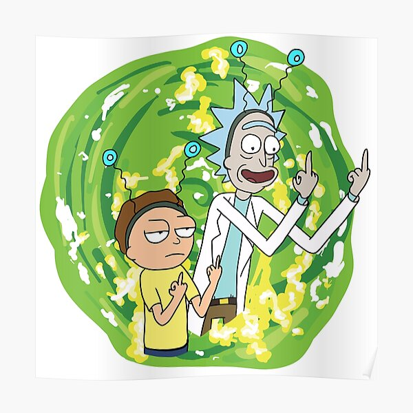 Rick and morty middle finger Poster