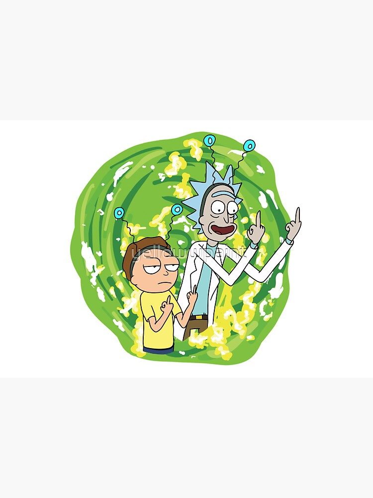Rick and morty middle finger by yellowwpaint