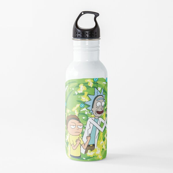 Rick and morty middle finger Water Bottle