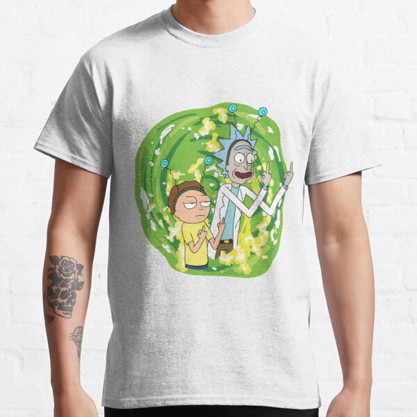 Rick and morty middle finger Classic T-Shirt