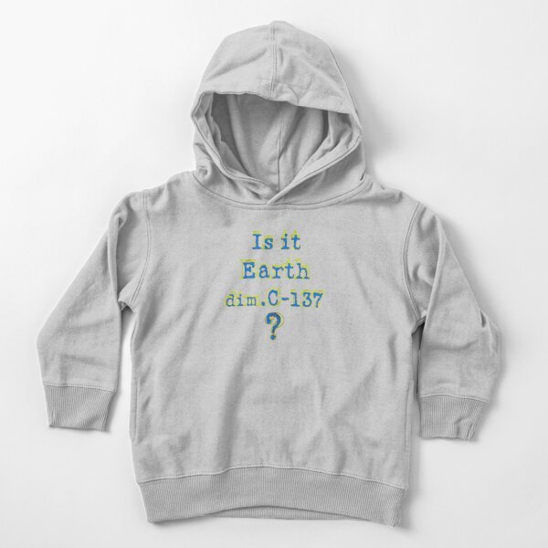 Rick and Morty Is it Earth C-137 Toddler Pullover Hoodie