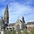 View from Groenplaats market square, Antwerpen. by Stephanie Owen
