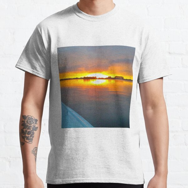 Sailing Motionless Water At Sunset Classic T-Shirt