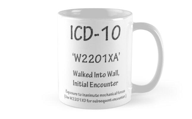 ICD-10: W2201XA Walked Into Wall, Initial Encounter by Corri Gryting Gutzman