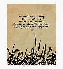 JD Salinger Quote Photographic Print