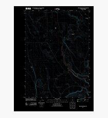 USGS Topo Map Oregon Moon Reservoir 20110829 TM Inverted Photographic Print