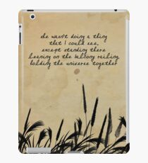 JD Salinger Quote iPad Case/Skin