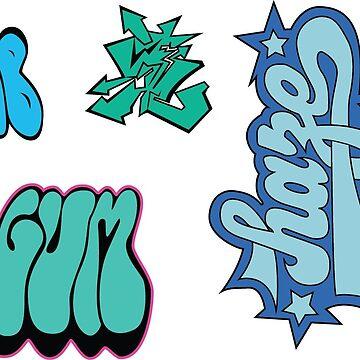 Jet Set Radio Graffiti Sticker sheet by KUPNOODLE