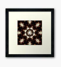 Diamond pearl Ring Of Light Framed Print