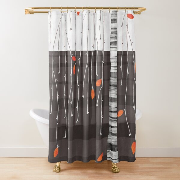 The last of the leaves Shower Curtain