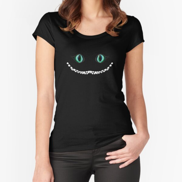 Cheshire cat Fitted Scoop T-Shirt