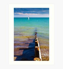 Carefree summer days Art Print
