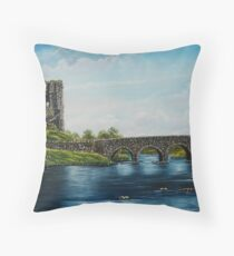 Doonbeg, County Clare, Ireland - Oil Painting Throw Pillow