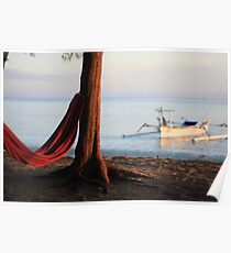 Gili Islands, Indonesia, Bali, Hammock Poster