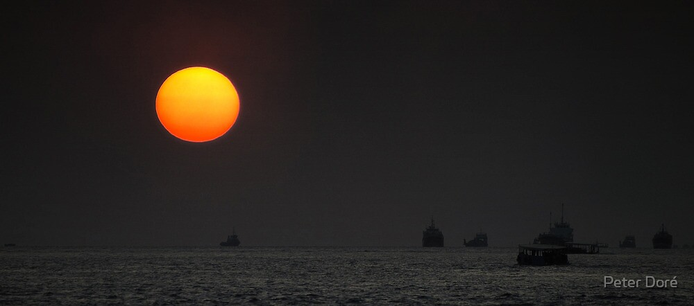 Shipping in the Sun by Peter Doré