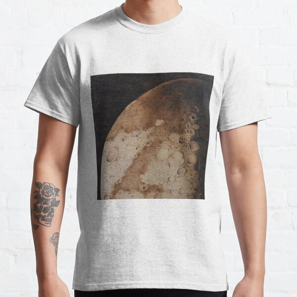 Cratered Moon pyrography art Classic T-Shirt