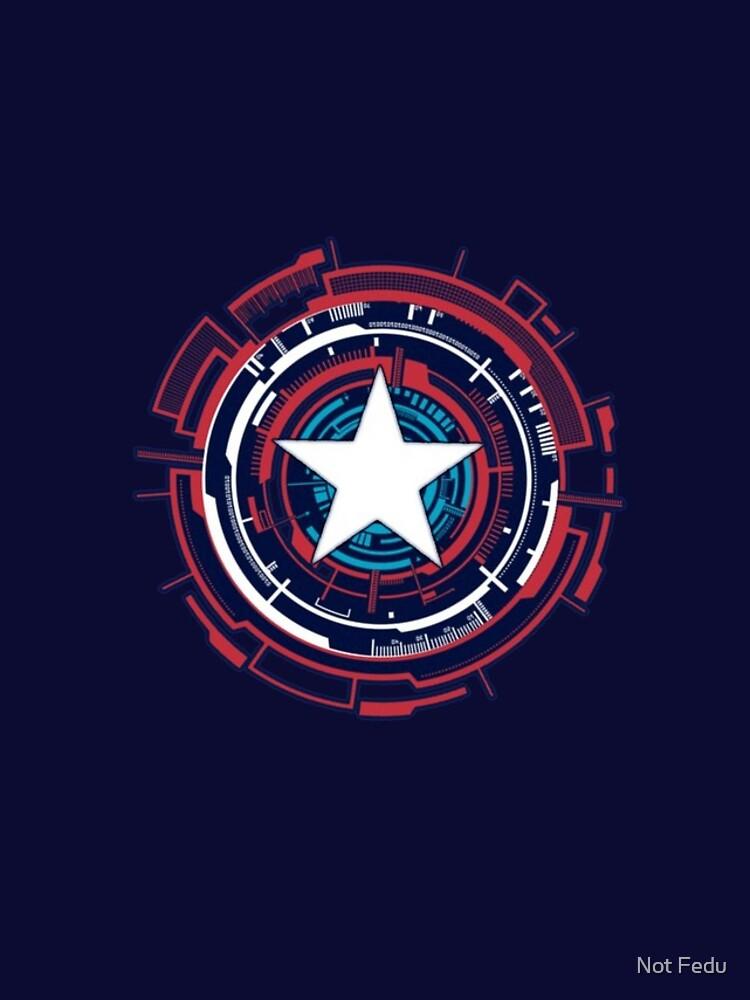 America Hero Futuristic Logo by F3DUR1C0