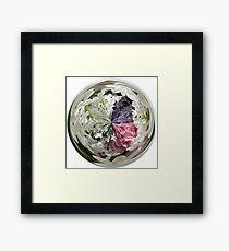 Spring Bouquet Under Glass Framed Print