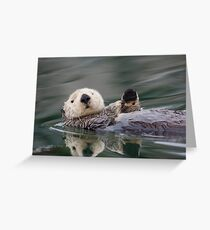 The Waving Sea Otter Greeting Card