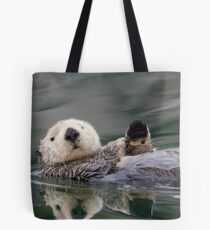 The Waving Sea Otter Tote Bag