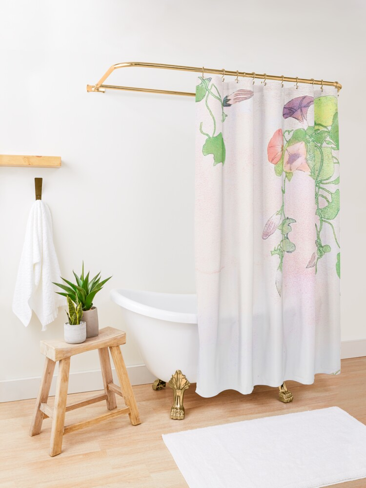Alternate view of Revival of Spring Shower Curtain