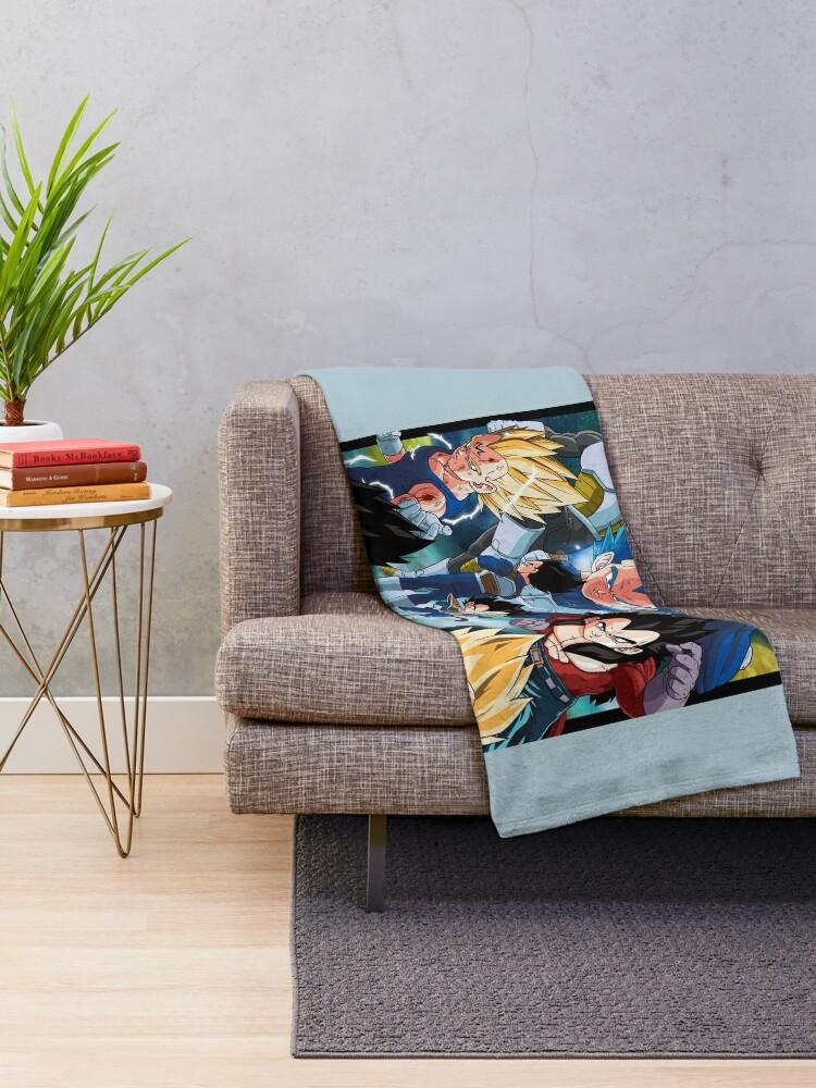 Alternate view of Vegeta Throw Blanket
