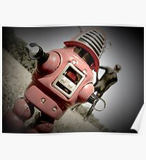 Retro Toy Robby Robot 04 Poster