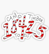 18425 - Camp Timber Tops Sticker