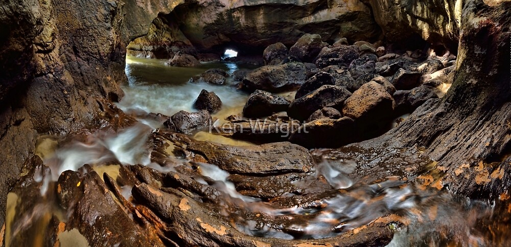 Whiritoa Blow Hole Cave by Ken Wright